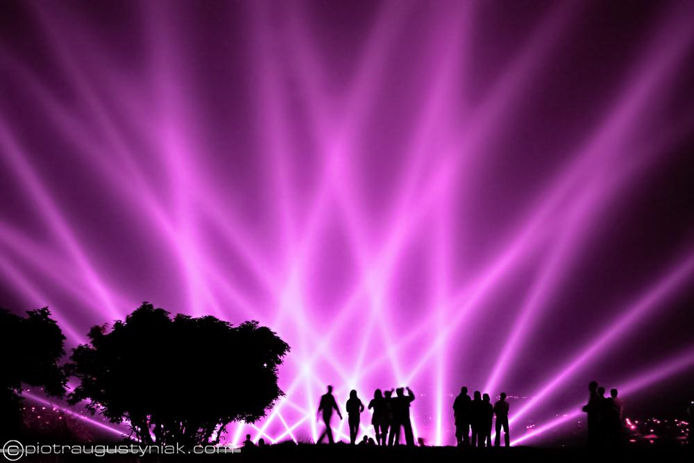 laserowy pokaz